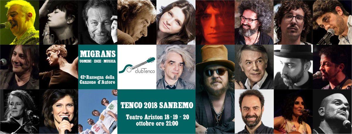 Migrans: Premio Tenco 2018, 42° rassegna della canzone d'autore